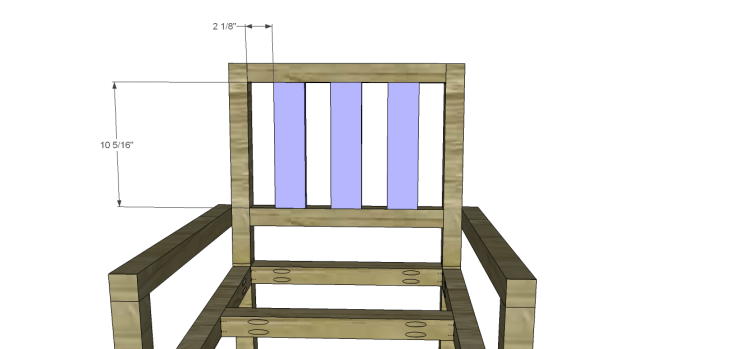 Plans to Build a Barstool with Arms_Back Slats
