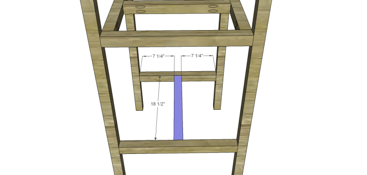 Plans to Build a Barstool with Arms_Lower Stretcher