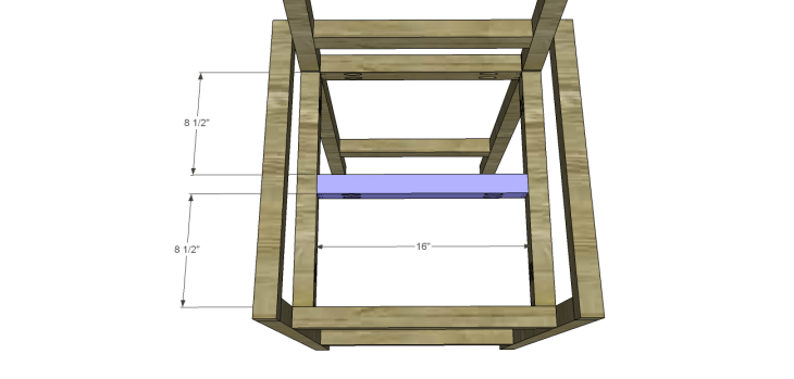Plans to Build a Barstool with Arms_Seat Stretcher