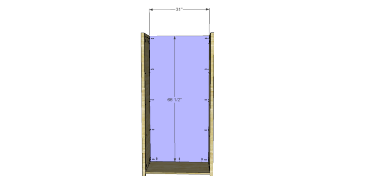 Allie Armoire Cabinet Plans-Back
