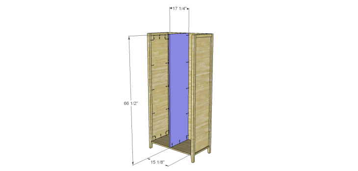 Allie Armoire Cabinet Plans-Divider