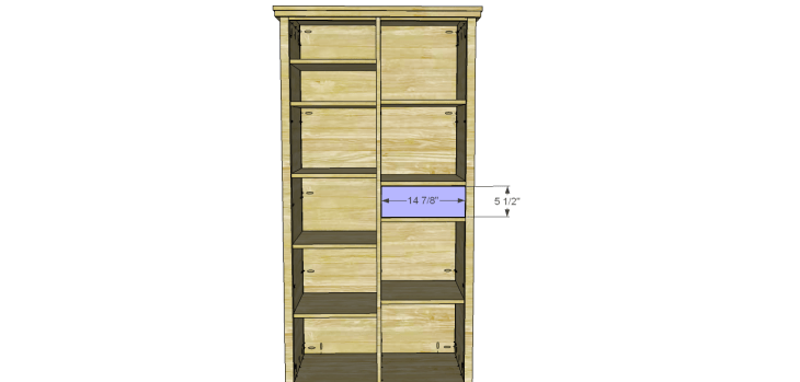 Allie Armoire Cabinet Plans-Drawer Front