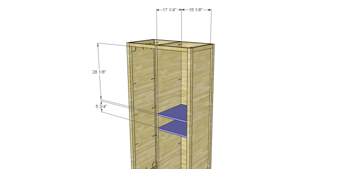 Allie Armoire Cabinet Plans-Drawer Shelves