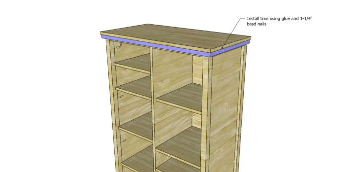 Allie Armoire Cabinet Plans-Trim