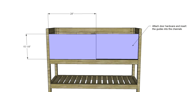 Crofton Sideboard Server Plans-Doors