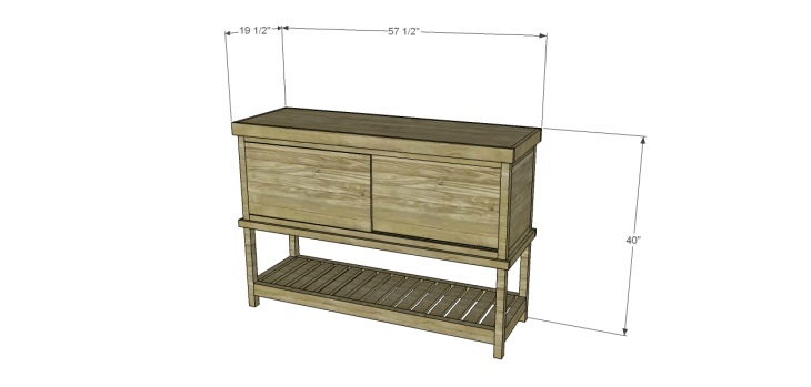 Crofton Sideboard Server Plans