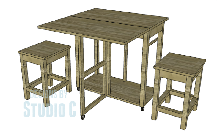 Plans to Build a Space Saving Table and Stools-Copy 2