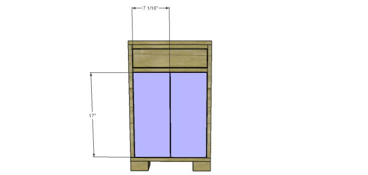 Hartford End Table Plans-Doors