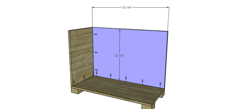 Hartford End Table Plans-Larger Cabinet Back