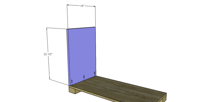 Hartford End Table Plans-Larger Cabinet Side