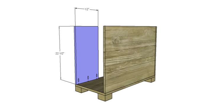 Hartford End Table Plans-Small Cabinet Side