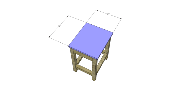 Plans to Build a Space Saving Table and Stools-Stool Seat