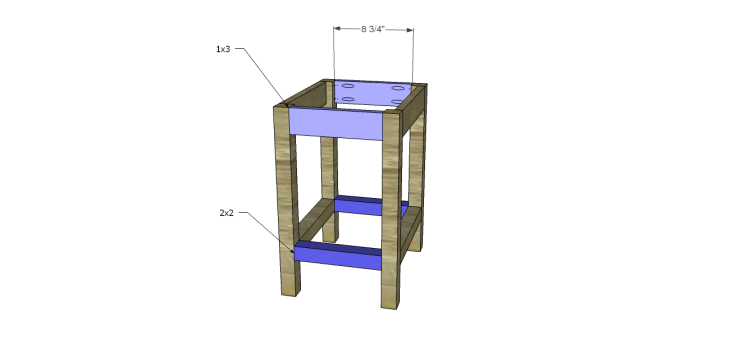 Plans to Build a Space Saving Table and Stools-Stool Stretchers