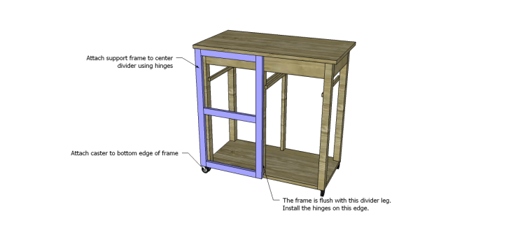 Plans to Build a Space Saving Table and Stools-Support Frame 2