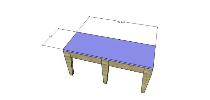 DIY 2x4 Bench Plans-Seat
