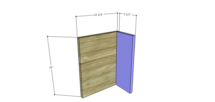 DIY Plans for the Cutaway Shelving Unit-Shelves 1