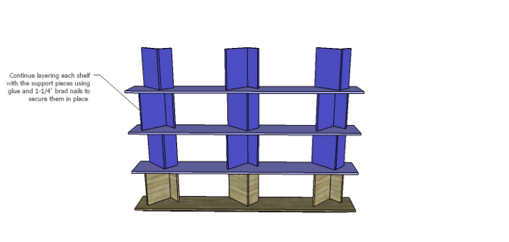 DIY Plans for the Cutaway Shelving Unit-Shelves 3