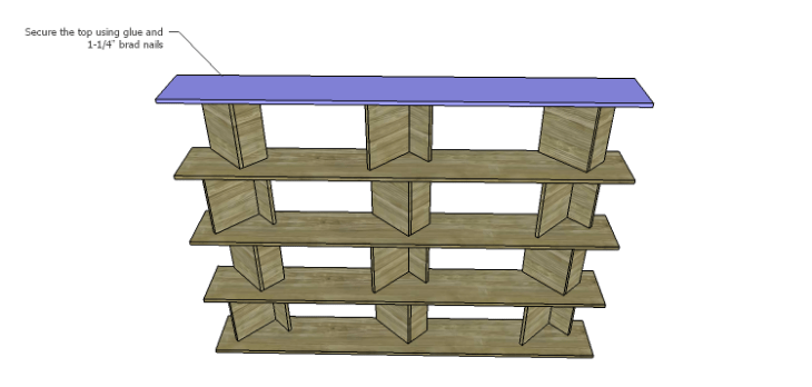 DIY Plans for the Cutaway Shelving Unit-Top