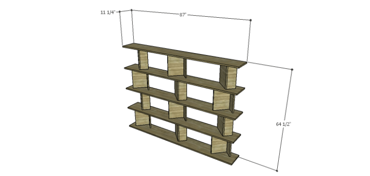 DIY Plans for the Cutaway Shelving Unit