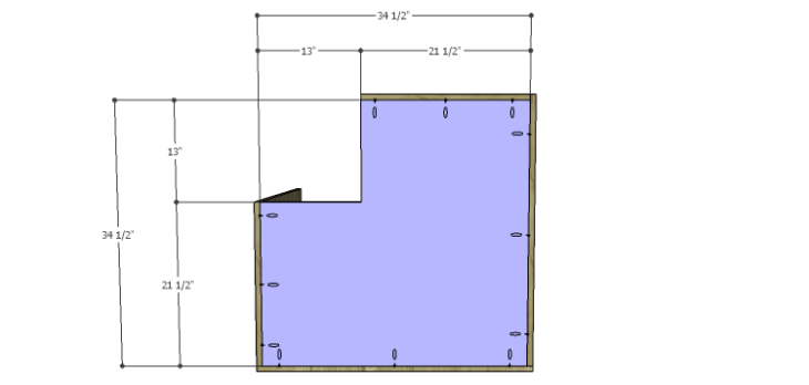 Corner Kitchen Cabinet Plans-Lower Bottom