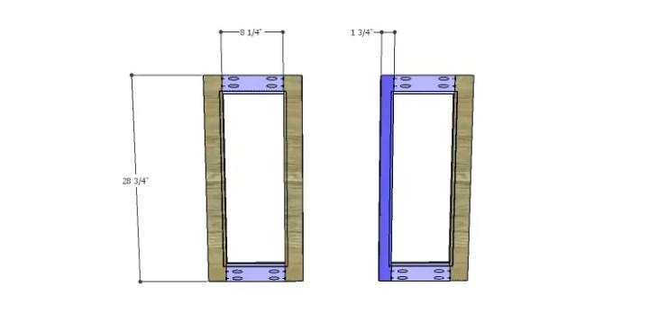 Corner Kitchen Cabinet Plans-Lower Doors 1
