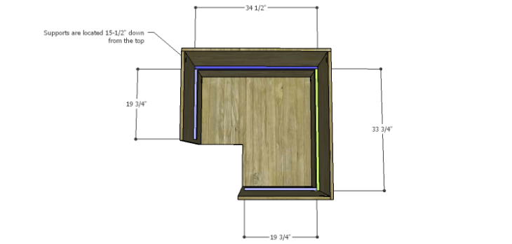 Corner Kitchen Cabinet Plans-Lower Supports