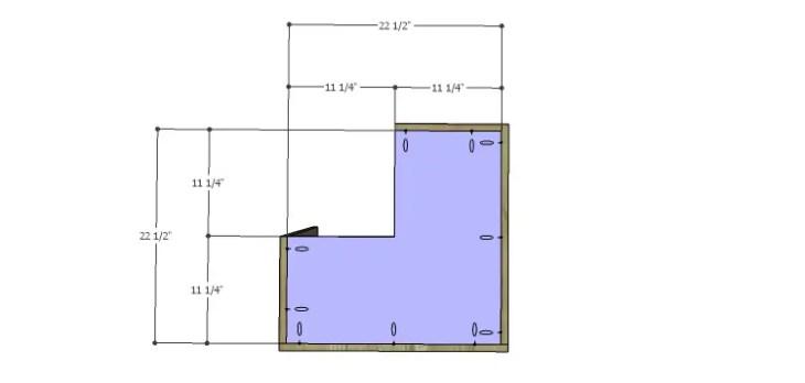 Corner Kitchen Cabinet Plans-Upper Bottom