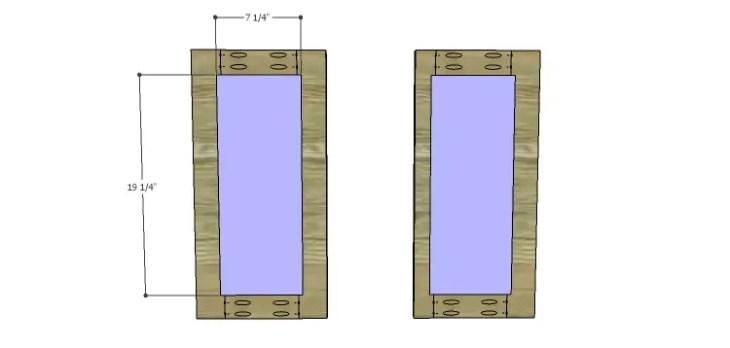 Corner Kitchen Cabinet Plans-Upper Doors 2