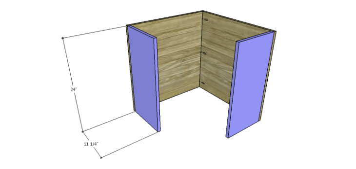 Corner Kitchen Cabinet Plans-Upper Sides