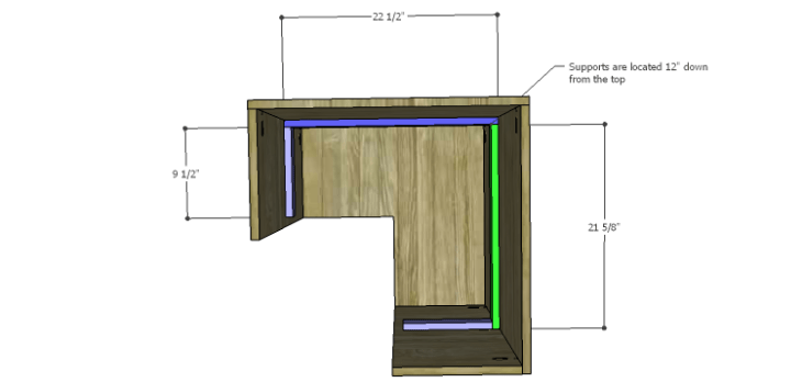Corner Kitchen Cabinet Plans-Upper Supports