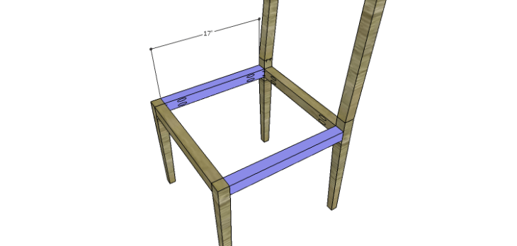 Luna Dining Chair Plans-Side Stretchers