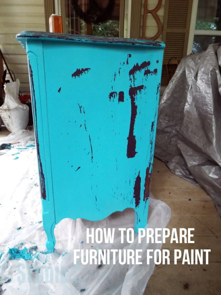 how to prepare furniture for painting