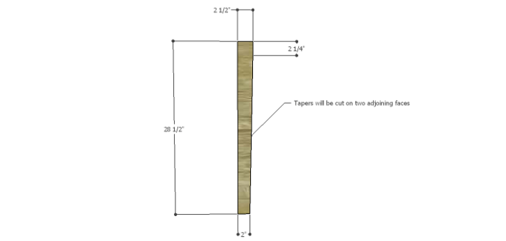 Plans to Build a Luna Dining Table-Legs