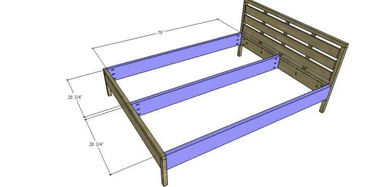 DIY Plans to Build an August Queen Bed-Rails