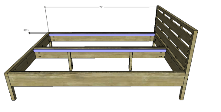 DIY Plans to Build an August Queen Bed-Slat Supports