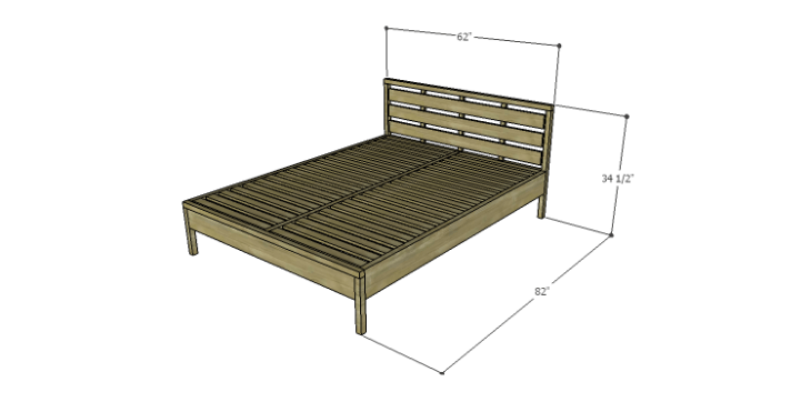 DIY Plans to Build an August Queen Bed