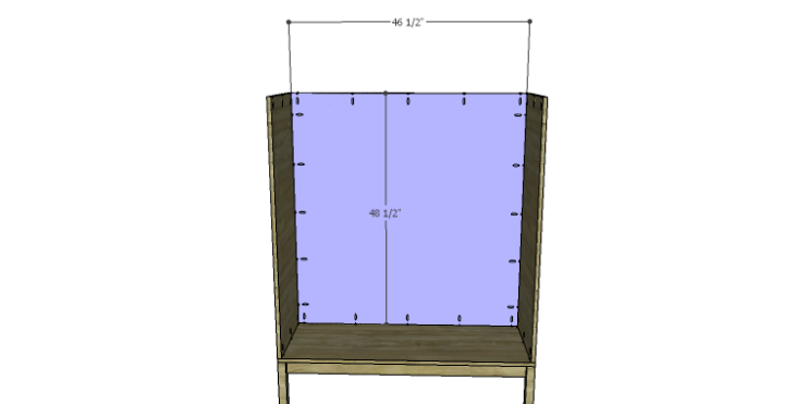 DIY Vintage Pantry Cabinet Plans-Back