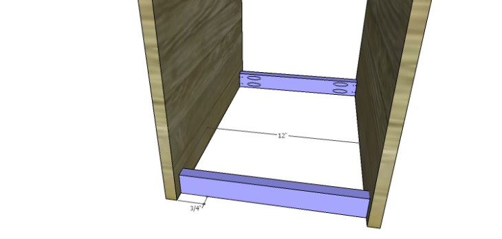 DIY Mini Fridge Cabinet Plans-Side Bottom Supports