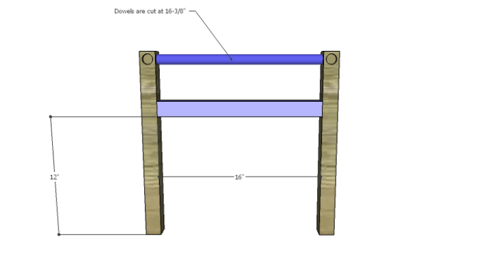 DIY Plans to Build a Splint Seat Chair-Front Frame