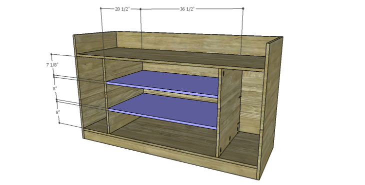 DIY Plans to Build a Kemper Media Console-Center Shelves