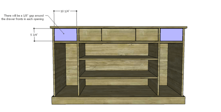 DIY Plans to Build a Kemper Media Console-Drawers