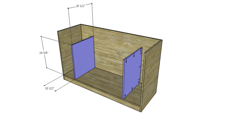 DIY Plans to Build a Kemper Media Console-Lower Dividers
