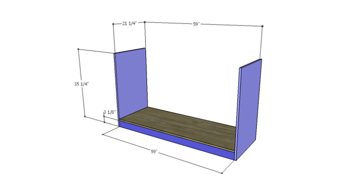 DIY Plans to Build a Kemper Media Console-Sides & Bottom