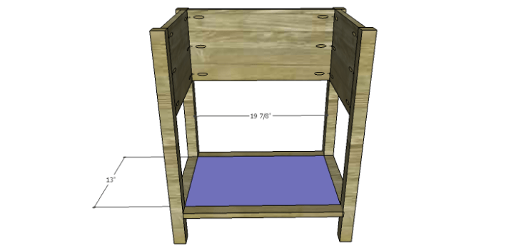 Presley 5-Drawer Table Plans-Bottom Shelf