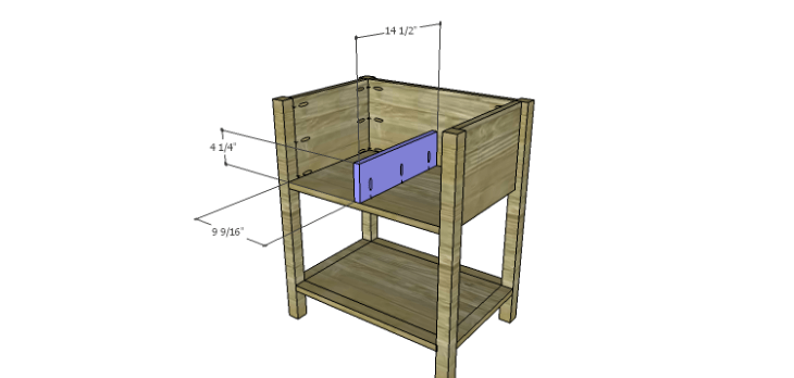 Presley 5-Drawer Table Plans-Lower Divider
