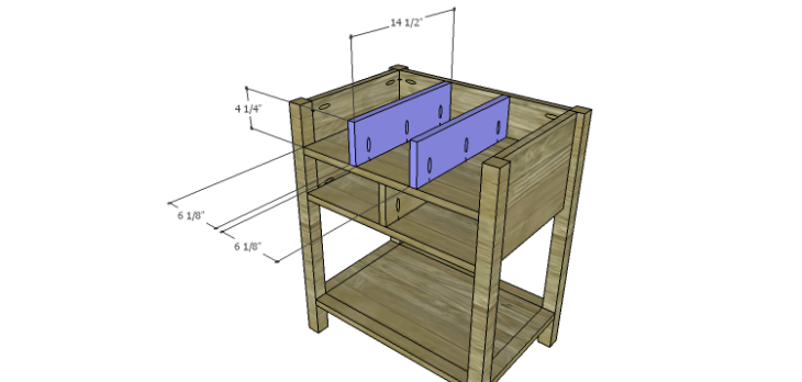 Presley 5-Drawer Table Plans-Upper Dividers