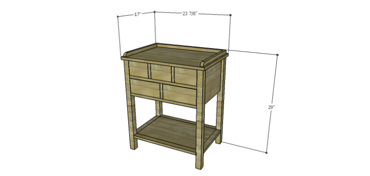 Presley 5-Drawer Table Plans