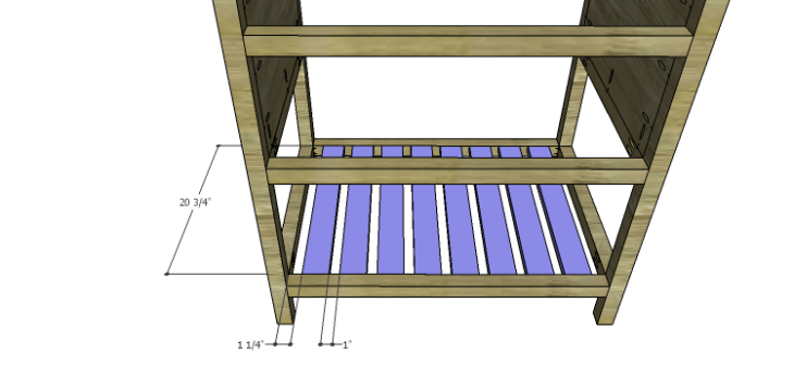 DIY Plans to Build a Printmaker's Vanity-Lower Slats