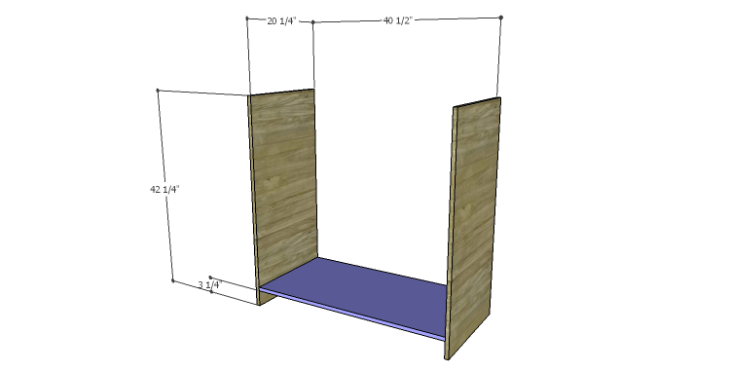 DIY Plans to Build a Howell Bar Cabinet_Sides & Bottom