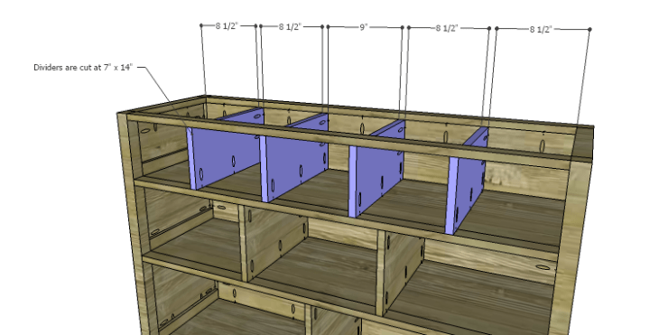 Plans to Build a Drake Chest_Upper Dividers
